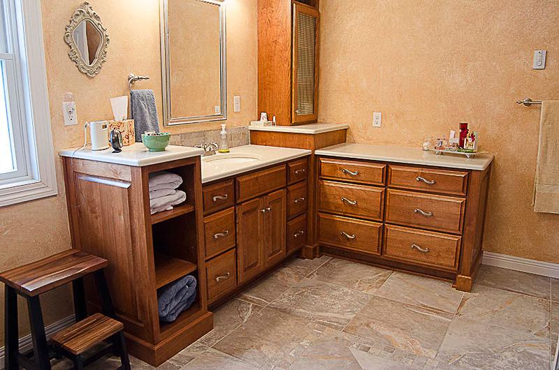 Bathroom setup vogl 39 s woodworking for Bathroom cabinets okc